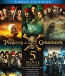Pirates of the Caribbean 1-5 Movie Collection